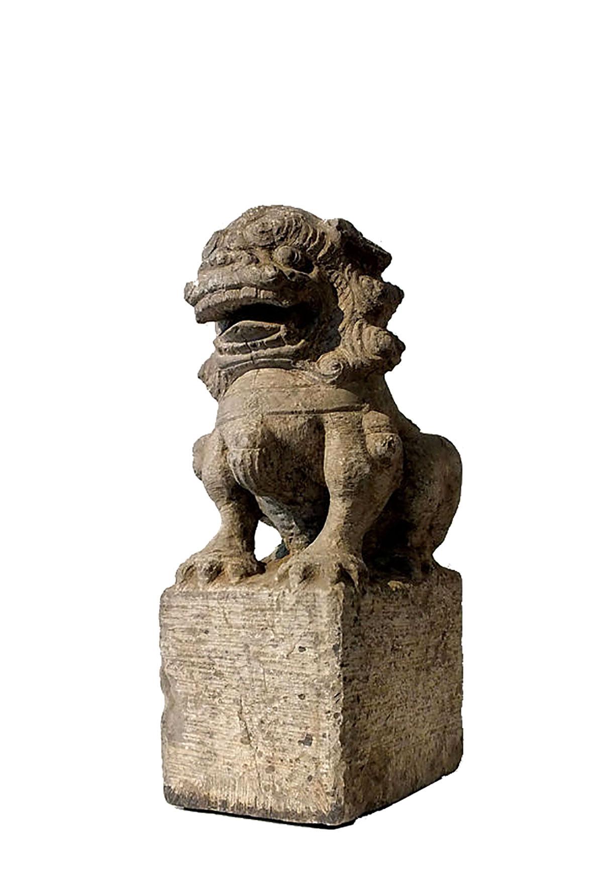 Ming Dynasty Stone Foo Dog (1)