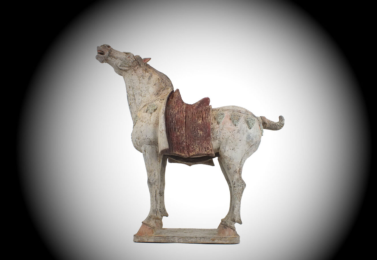 Tang Neighing Pottery Horse (1)