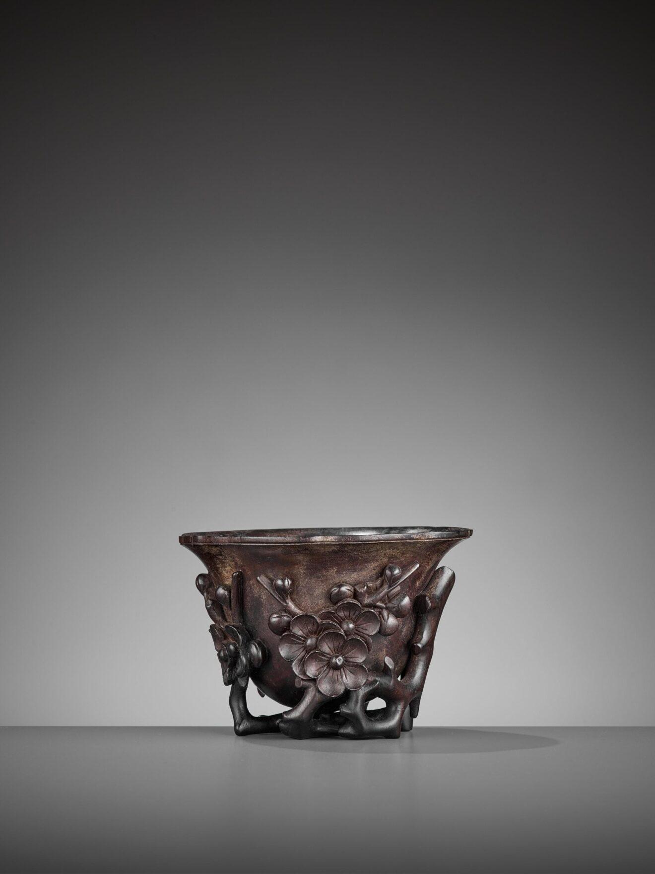 Zitan Floral Libation Cup (1)
