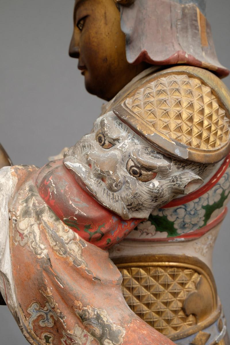 Magnificent Painted Figure of Idaten (19)