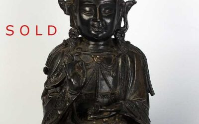 Chinese bronze seated figure of a Bodhisattva Ming Dynasty
