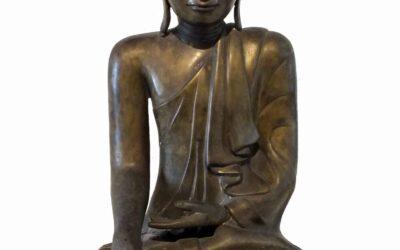BRONZE BURMA BUDDHA