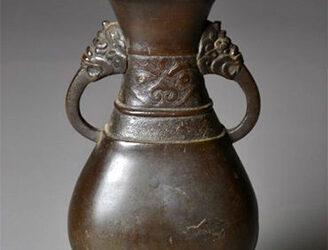 Chinese Yuan Dynasty Bronze Vase, 13th Century