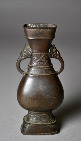 Chinese Yuan Dynasty Bronze Vase 13th Century