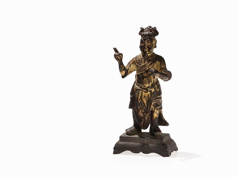 Gilt Bronze Figure Daoist Deity