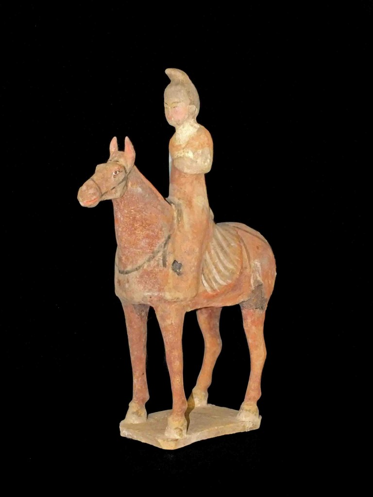 Tang Dynasty Pottery Equestrian Figure