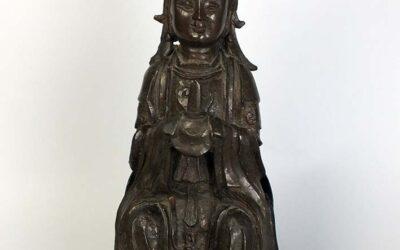 Ming Dynasty Bronze Primordial Princess Bixia Yuanjun
