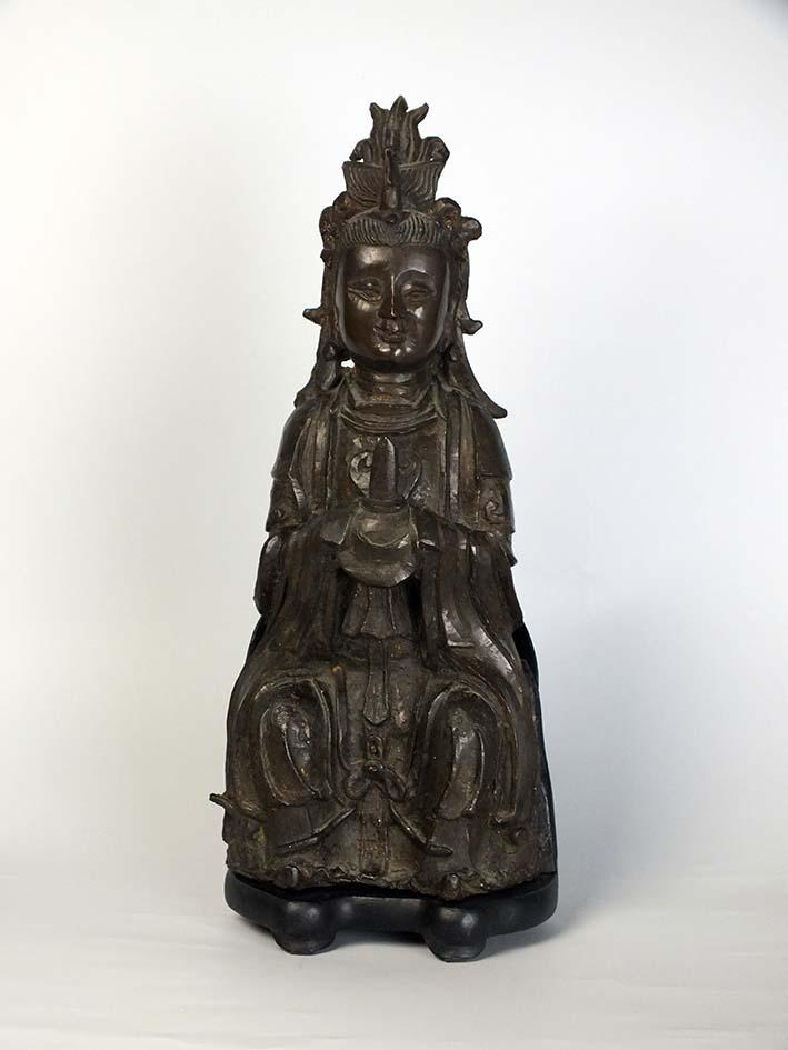 Ming Dynasty Bronze Figure of the Primordial Princess Bixia Yuanjun
