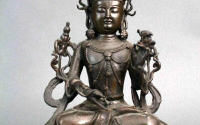 Chinese Bronze Figure – Seated Manjushri