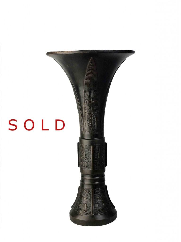 Chinese Bronze Vase, GU