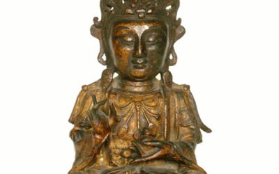 GILT – BRONZE FIGURE OF AMITABHA