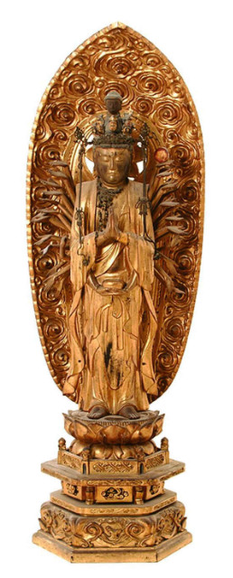 Giltwood Thousand – Hand Japanese Buddha, 18TH Century