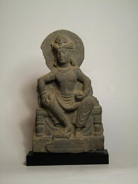 Gray Schist Stele of Bodhisattva Gandhara