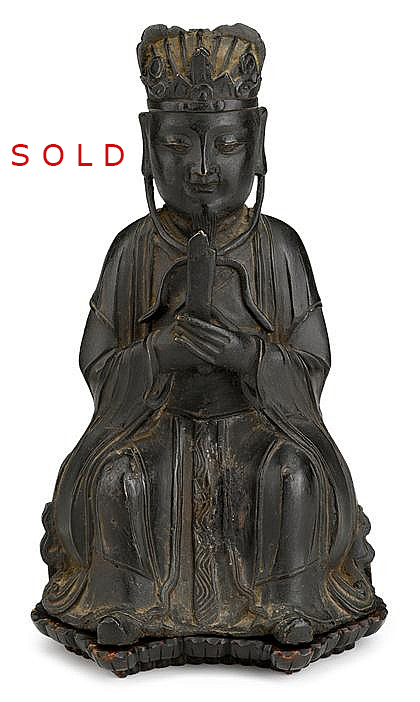 Ming Dynasty Bronze Figure of a Dignitary