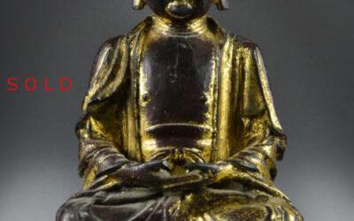 Ming Dynasty Gilt Bronze Buddha