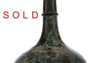 Zhou / Han Dynasty Large Archaic Bronze Garlic–Head Vase