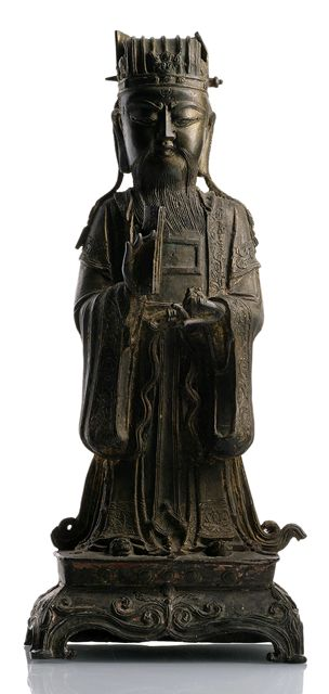 BRONZE FIGURE DAOIST IMMORTAL