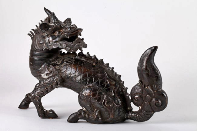 Chinese Bronze Qi Lin