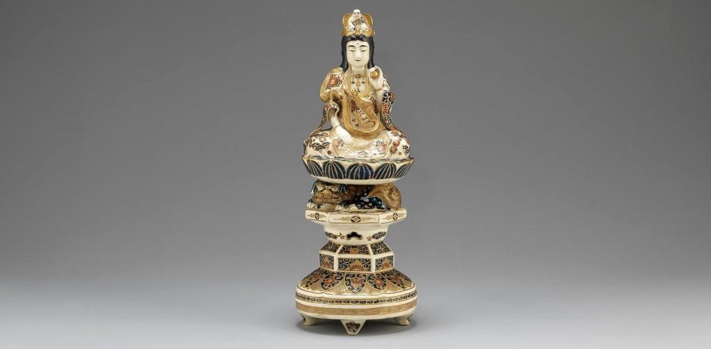 Satsuma figure Bodhisattva, Kwannon
