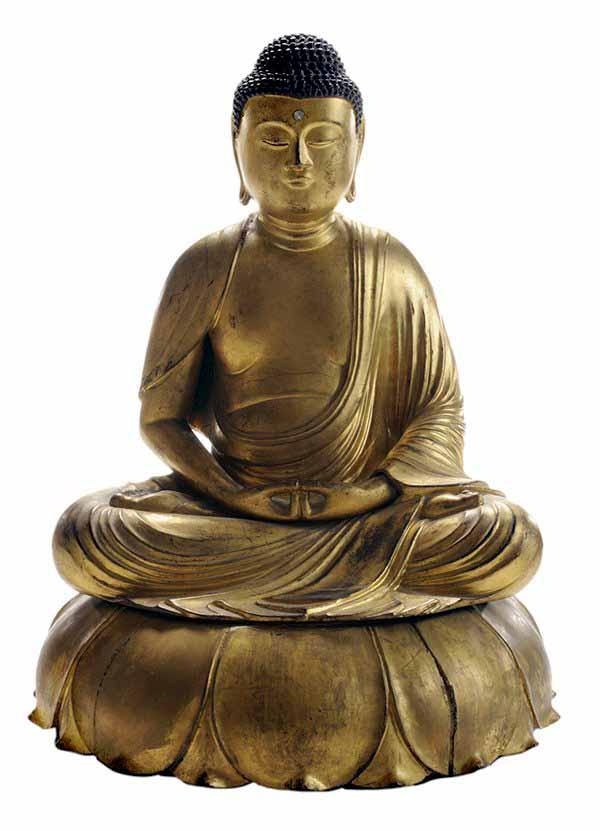 Japanese Gilt Wood Buddha Amida
