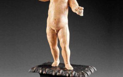 Polychrome Wood Figure Christ Child