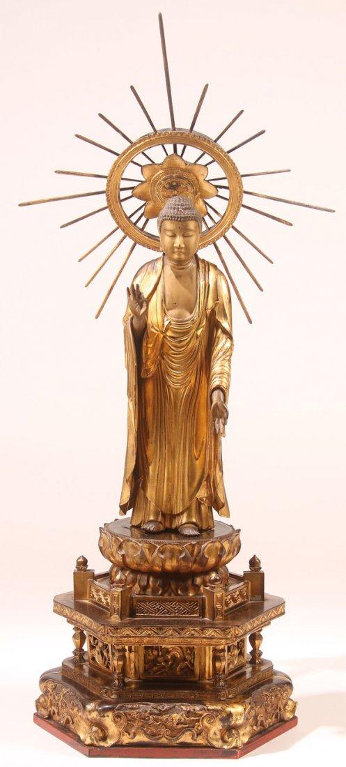 Extremely Rare Large Japanese Buddha