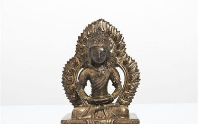 Qianlong Gilt Bronze Figure Amitayus