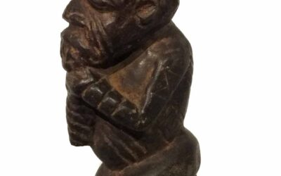 Rare Large Stone Kissi Figure