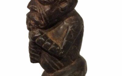 Rare Large Stone Kissi Figure
