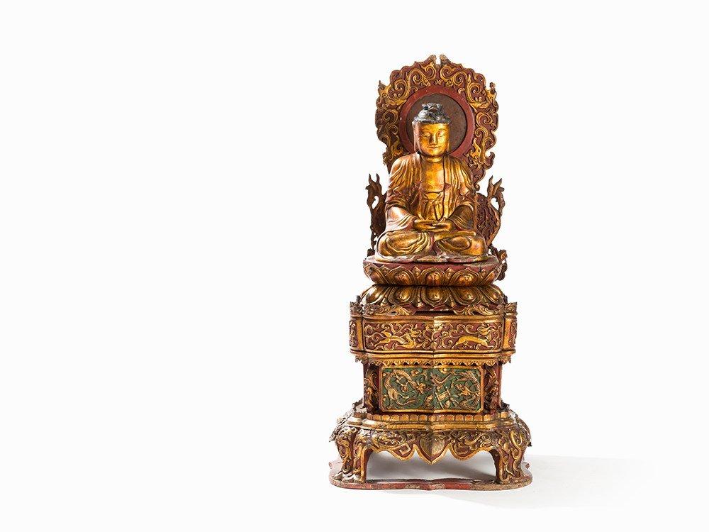 Important Large Chinese Buddha