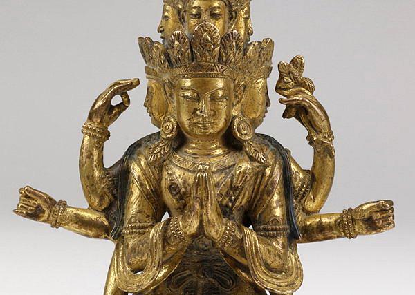 Exceptional-Gild-Bronze-Figure-Avalokitesvara