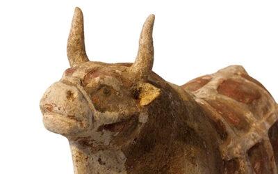 Rare Pottery Ox