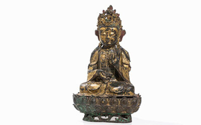 Large Gilded Guanyin Ming