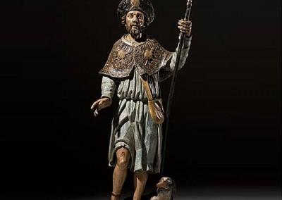 Large Polychrome Figure St. Roch