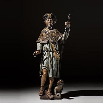 Large-Polychrome-Figure-St.-Roch