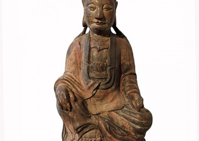 Lovely Large Wood Guanyin (9)