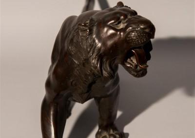 Meiji Period Bronze Tiger  (2)