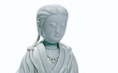18TH C BLANC de CHINE GUANYIN