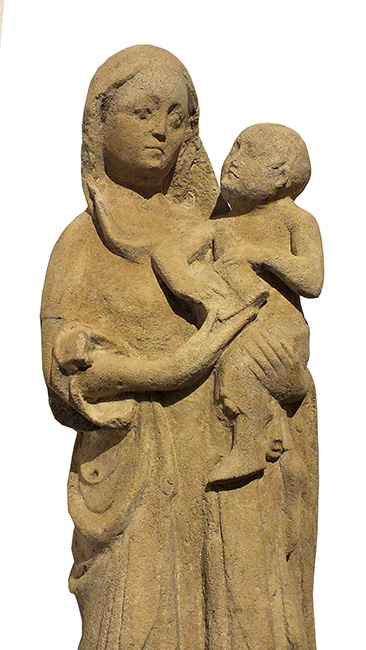 LARGE LIMESTONE GROUP VIRGIN CHILD (1)