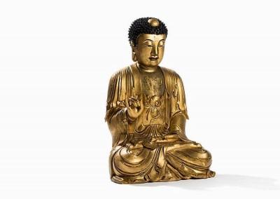 EXCEPTIONAL MASSIVE GILT BUDDHA (1)