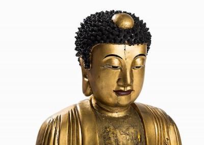EXCEPTIONAL MASSIVE GILT BUDDHA (2)