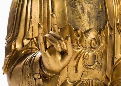 EXCEPTIONAL MASSIVE GILT BUDDHA (3)