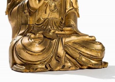 EXCEPTIONAL MASSIVE GILT BUDDHA (4)
