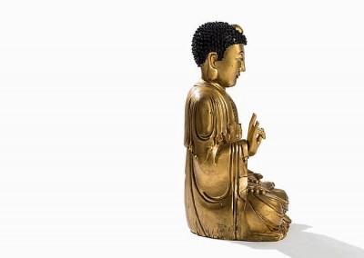 EXCEPTIONAL MASSIVE GILT BUDDHA (5)