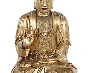 EXCEPTIONAL MASSIVE GILT BUDDHA
