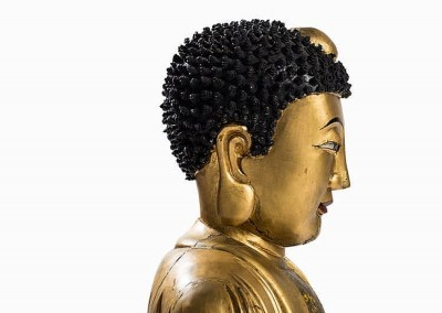 EXCEPTIONAL MASSIVE GILT BUDDHA (6)