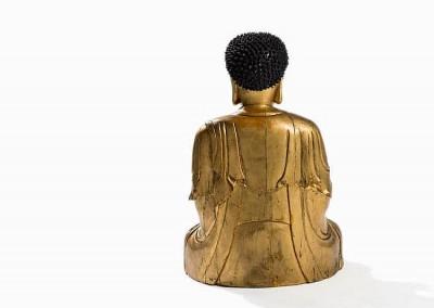 EXCEPTIONAL MASSIVE GILT BUDDHA (8)