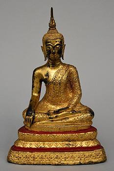 GILT BRONZE BUDDHA SAKYAMUNI