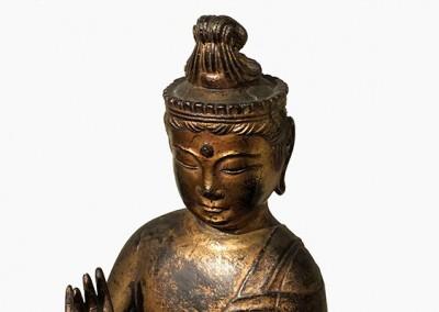 RARE GILT BRONZE BUDDHA (1)