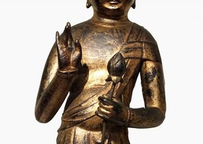 RARE GILT BRONZE BUDDHA (10)